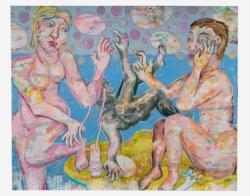 Venus löst die Sandale, oder Der, Die, Das Dritte (Altarflügel geschlossen)